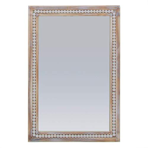 Vidal Regalos Espejo de Pared Rectangular Madera Etnico 40x60 cm