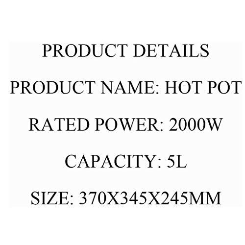 41dKL+LSYfL - CJTMY Startseite Aufzug Hot Pot mit automatischer Hebe Entwurf, 2000W hohe Leistung, schnelle Heizung Geschwindigkeit, 4 Speed Adjustment