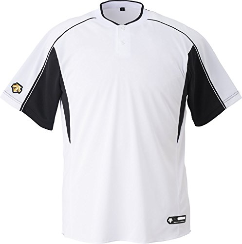 DESCENTE(デサント) 野球 2ボタンベースボールシャツ ホワイト×ブラック XAサイズ DB104B