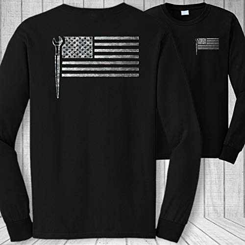 Ironworker American Flag Long Sleeve Shirt