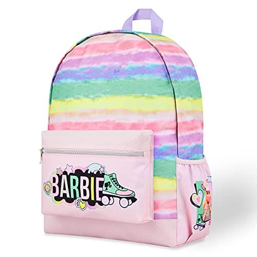 Barbie Mochilas Escolares Niña, Mochila Infantil, Material Escolar Bonito, Regalos Para Niñas y Adolescentes (Arcoíris)