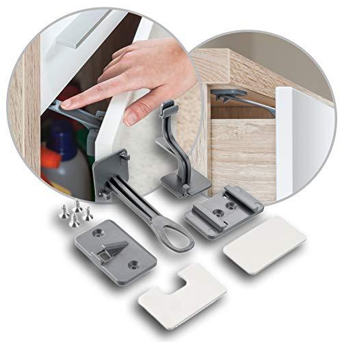 REER DesignLine bloque tiroir/porte/armoire à coller ou visser, Anthracite