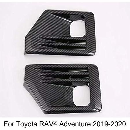 ABS Carbon Front Fog Light Lamp Cover Trim For Toyota RAV4 Adventure 2019-2020