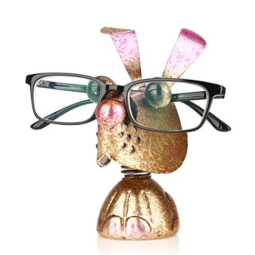 Tooarts 眼鏡スタンド メガネホルダー かわいいウサギ型 メガネ置き めがねスタンド アイアン クリエイティブホーム 眼鏡収納 おもしろ雑貨