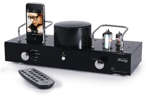 Fatman iTube Carbon Trinity Hybrider Röhrenverstärker mit integriertem Apple iPod Dockingstation
