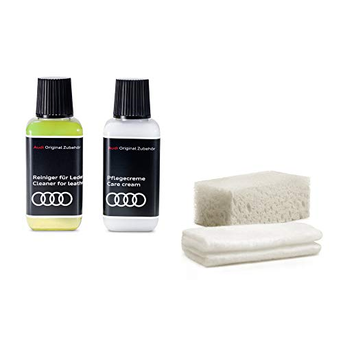 Audi 4L1096372 Lederpflege Lederreiniger Reinigungs-Set 4-teilig, Nicht geeignet für Alcantara
