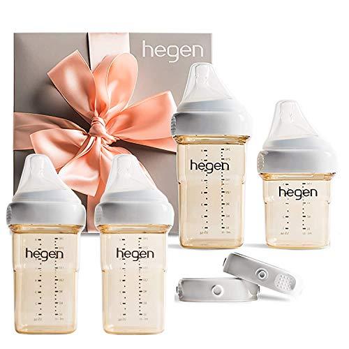 Hegen Newborn Baby Bottle Basic Starter Kit with Add On 8oz (2Pk) Baby Bottles