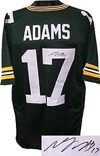Autographed Davante Adams Jersey - Custom Stitched Pro Style #17 XL Witnessed Hologram - JSA Certified