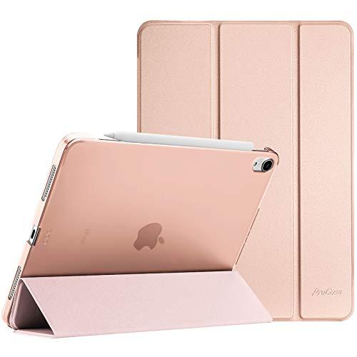 ProHülle Hülle für iPad Air 4 Generation 10.9 Zoll 2020, Schutzhülle Hülle(Unterstützt 2. Gen iPencil Aufladen), Ultra Dünn Leicht Ständer Schal Smart Cover mit Transluzent Frosted Rück –Roségold