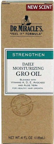 Dr. Miracles Strengthen Daily Moisturizing Gro Oil 4 oz. (Pack of 2) by Dr. Miracles