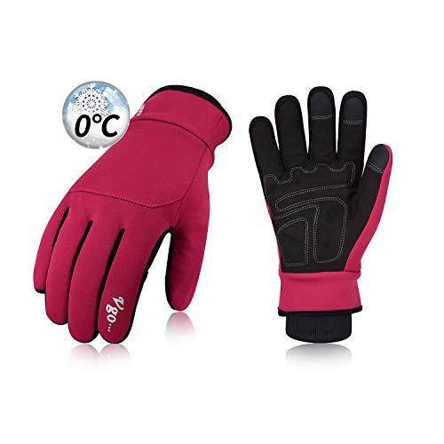 Vgo boven 0 °C, fleece van 3M Thinsulate C40, vingerhandschoenen sporthandschoenen, outdoor, REIT, fiets, touchscreen voor dames