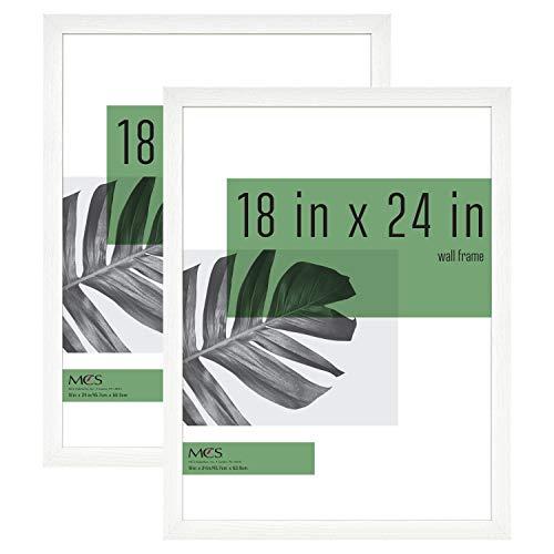MCS Industries Studio Gallery Frames, 18x24 in, White Woodgrain, 2 Count