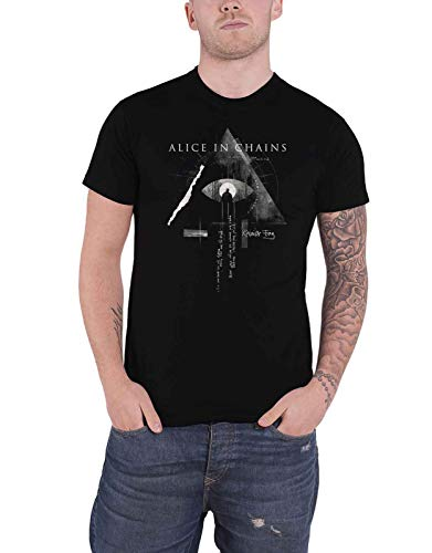 Rock Off Alice in Chains T Shirt Fog Mountain Band Logo Nuovo Ufficiale Uomo Size XL