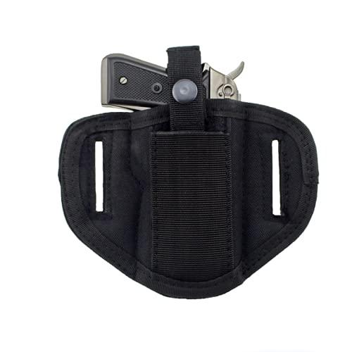 Gexgune Pistola Universal Militar Derecha Derecha táctica Oculta Funda de cinturón para Pistolas compactas subcompactas