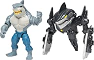 TRANSFORMING ARMOR: Armed with Mega Gear, KING SHARK is ready for the ultimate battle! To activate, press the back to power up and make his blaster blades drop down, destroying anything in his path! 4-INCH KING SHARK ACTION FIGURE: With authentic det...