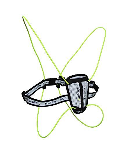EquiRay - Die fortschrittlichste aktive Licht- und Reflexweste zum Joggen oder Radfahren mit einzigartiger patentierter Technologie, die eine Sichtbarkeit von bis zu 2 km ermöglicht