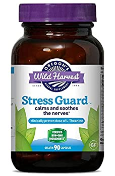 Oregon s Wild Harvest Stress Guard L-Theanine Supplement for Stress Relief 90 Capsules