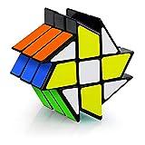 Coolzon Zauberwürfel Fenghuolun 3x3x3, Magic Speed Cube Puzzle Cube Zauber Würfel PVC Aufkleber für Kinder und Erwachsene, Schwarz