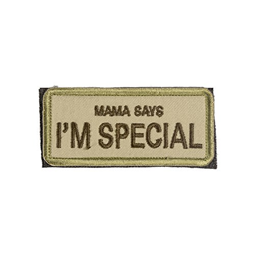 OneTigris Moral Patch Taktisches Stickerei Klett-Patch(Mama Says I'm Special)