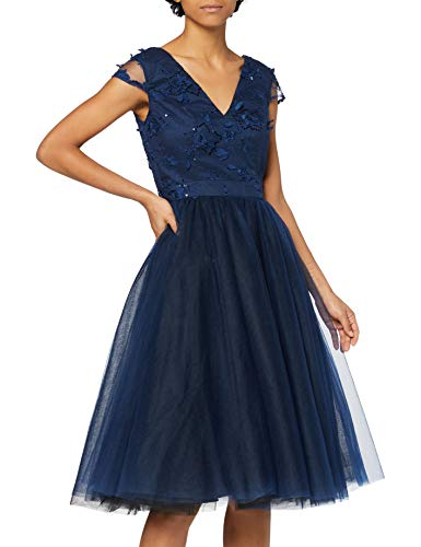 Chi Chi London Cosette Vestito Elegante, Blu (Navy NB), 42 IT (Dimensioni Produttore:10) Donna