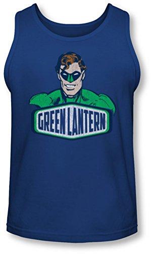 Dco - Green Lantern Hommes Inscrivez-Tank-Top, XX-Large, Royal
