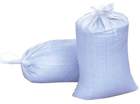 Sand Bags, 14 X 26 Empty White Woven Polypropylene Sandbags with UV Coating Protection, Ties Included, Waterproof, Dust Proof. (20 Bags)