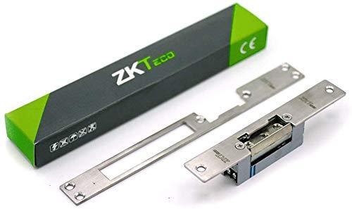 Cerradura eléctrica - 12V DC - ZKTeco 4513 - Abrepuertas eléctrico ajustable - Simétrica - Reversible - Sistema con mecanismo invertido para puertas con corriente continua