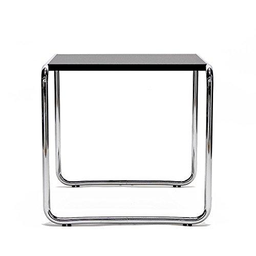 Matrix International BR 09/1Tisch mit Platte quadratisch, Metall, Chrom/schwarz, 55x 48x 45cm