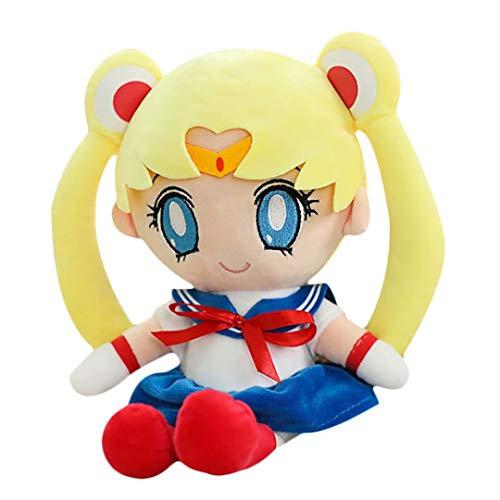Sailor Moon Plüschtier Puppe Kawaii Japanische Klassische Anime Figur Sailor Moon Sailor Chibi Moon Gefüllte Figur Ornament für Zuhause Dekorativ & Sammlung & Geschenk