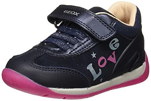 Geox - Scarpe da Bambina B Each Girl First Walker Shoe, (Dk Navy Fuchsia), 23 EU