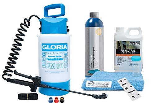 Gloria Foam Master FM30 + ValetPro Snow Foam + Koch Chemie NanoMagic Shampoo + Zubehör