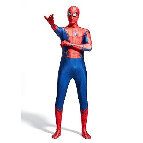 Superheld Cosplay Spiderman-kostuum unisex volwassenen kinderen pak podium overall bodysuit Lycra spandex feestkleding SPIDERSYBB Kids-L(125-135) rood