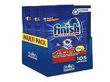 Finish, 105 pastillas para lavavajillas, All in One Max, 3 paquetes de 35 pastillas,...