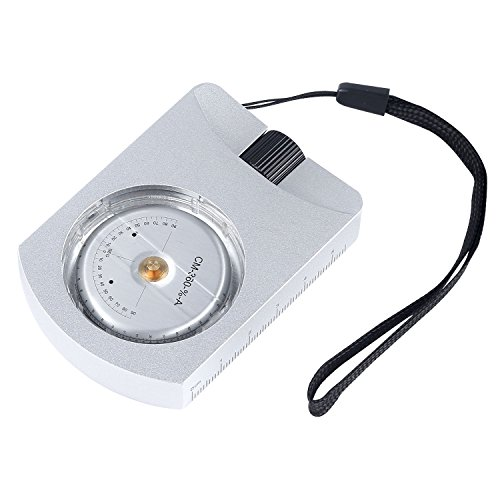 Ueasy Professional Aluminum Accurate Altimeter Compact Handheld Clinometer for Measuring Heights Slopes Angles Silver