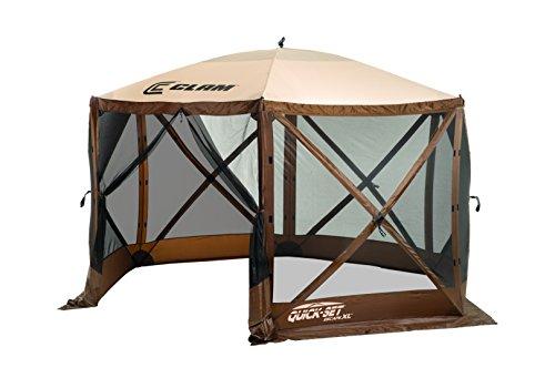 Quick Set Escape Canopies, X-Large 150 x 150-Inch Portable Popup Gazebo Tent 6-8 Person, Brown