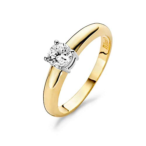 Blush 14 Karaat Witgouden/Gouden Ring 1129BZI/54 (Maat: 54)