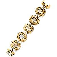 Swarovski LV 23K Gold-Plated Clear Pink Crystal Women's Bracelet