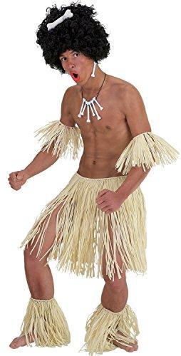 Constume da uomo hawaiano/guerriero Zulu, travestimento per addio al celibato e feste in maschera