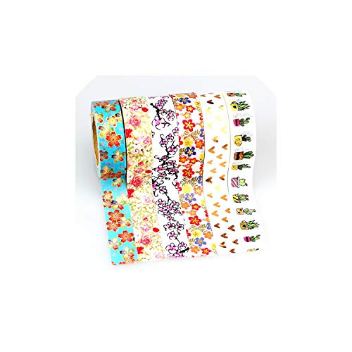 30Pcs/Lot Foil Washi Tape Scrapbooking Tool Masking Tape Adhesive Tape Sticker Decorative Stationery Tape,As Picture