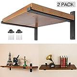 Ouvin Lot de 2fixations pour étagère murale, supports décoratifs de fer, pour...