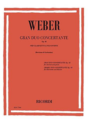 Grand Duo Concertante Op 48. Klarinette, Klavier