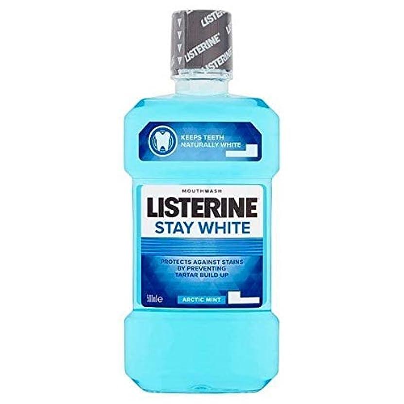 スリム釈義帝国主義[Listerine ] リステリン白北極ミントのうがい薬500ミリリットルの滞在 - Listerine Stay White Arctic Mint Mouthwash 500ml [並行輸入品]
