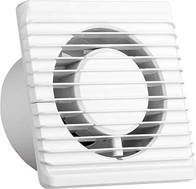 Foto di Ventilatore universale con valvola antiritorno Ø 100 mm/10 cm per bagno e cucina, basso consumo energetico 8 W, funzionamento silenzioso 26 dB e alta efficienza 93 m3/h. Standard. Systerm Energy.