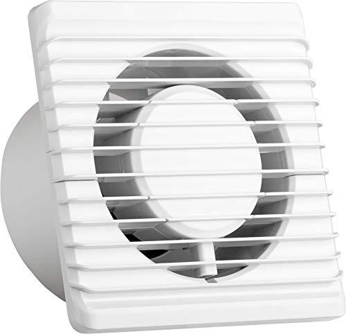 Universal Abluftventilator mit Rückstauklappe Ø 100 mm/10 cm für Bad und Küche, niedrigem Energieverbrauch 8W, leiser Betrieb 26 dB und Hohe Effizienz 93 m3/h. Standard. Systerm Energy