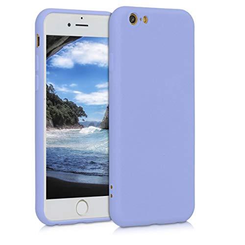 kwmobile Cover Compatibile con Apple iPhone 6 / 6S - Custodia in Silicone Effetto Gommato - Back Case Protezione Cellulare - Lavanda Pastello