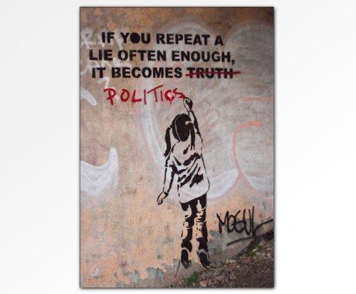 Banksy Wandbild - Leinwandbild 100x70cm k. Poster ! Bild fertig auf Keilrahmen ! Pop Art Gemälde Kunstdrucke, Wandbilder, Bilder zur Dekoration - Deko / Top 100