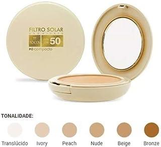 FILTRO SOLAR TONALIZANTE FPS 50 PÓ COMPACTO ADCOS - 6 CORES Ivory