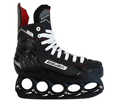 T-Blade Patins à glace Bauer NS Black Edition Hockey Loisirs Freestyler avec vis métalliques, 7 (EU42)