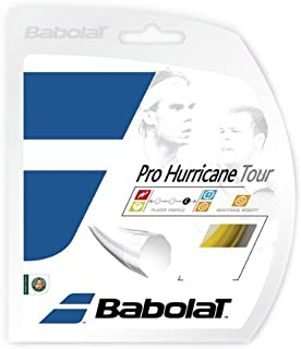 Babolat Pro Hurricane Tour Poly Ridged Tennis Racquet String Sets (16 and 17 Gauge) - in Multi-Packs - Best for Durability and Spin (2-4-6-8-Packs)