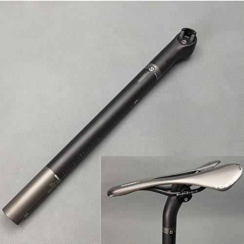 WYJW Tija de sillín de Bicicleta de Carretera de montaña de Fibra de Carbono Mate Poste de sillín de Bicicleta 31,6/27,2/30,8 X 400mm Offset 5mm/25mm Tija de sillín